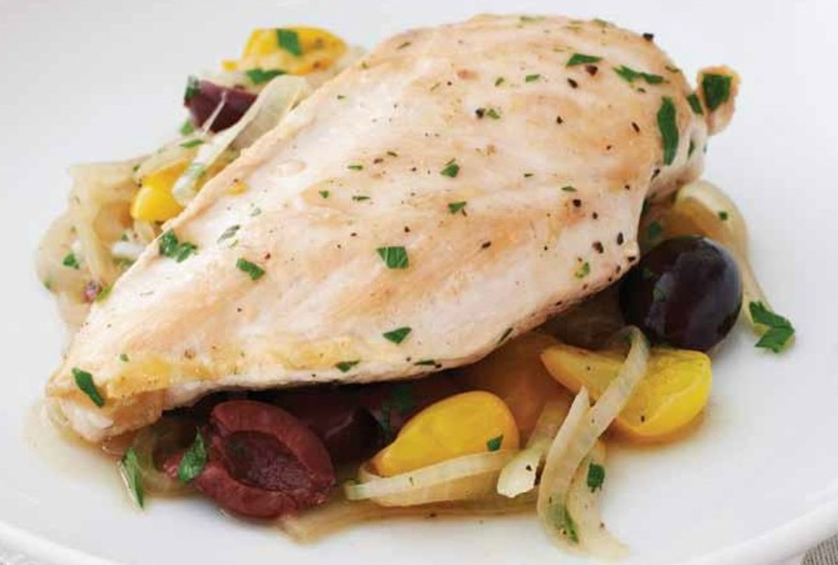 Chicken with Olives, Tomatoes & Onions